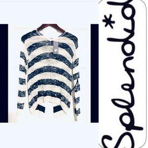 Splendid open v-back pullover, Medium NWT